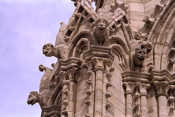 Gargoyles At Notre Dame De Paris